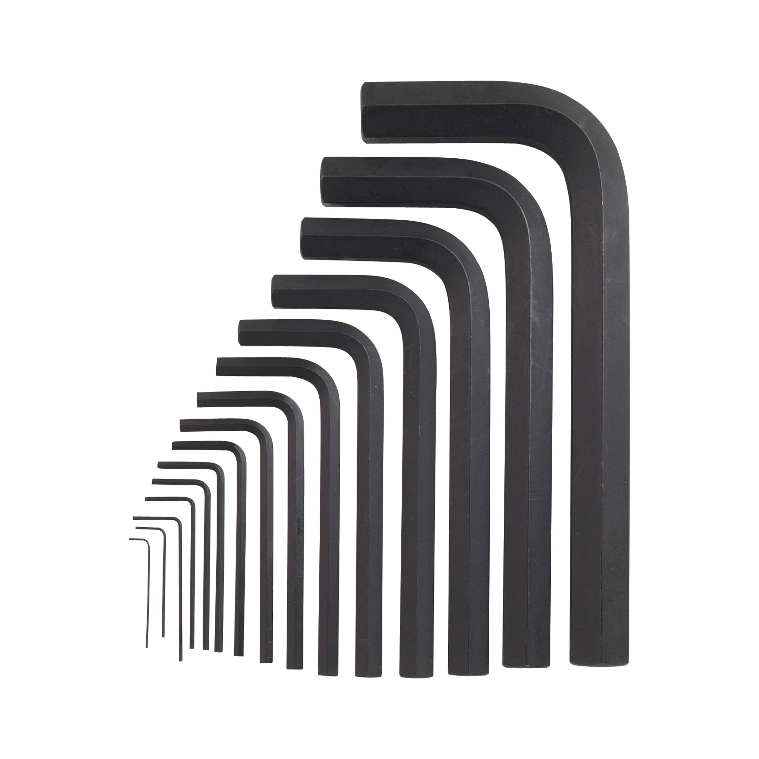 1/8 Hex Key Short Arm Black Oxide (Unbrako)
