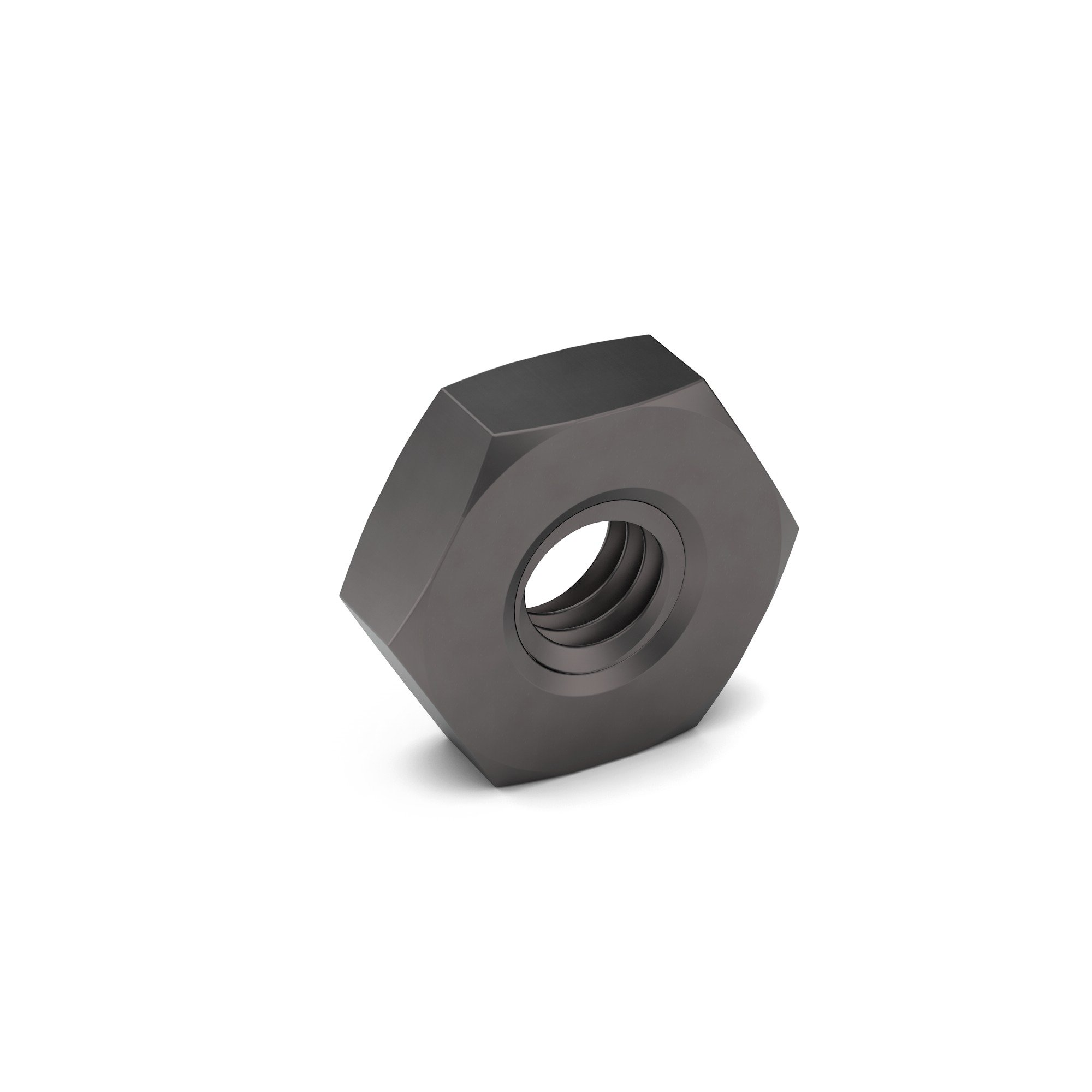 3-8 A194 2H Heavy Hex Jam Nut Plain Finish | Earnest Machine Products