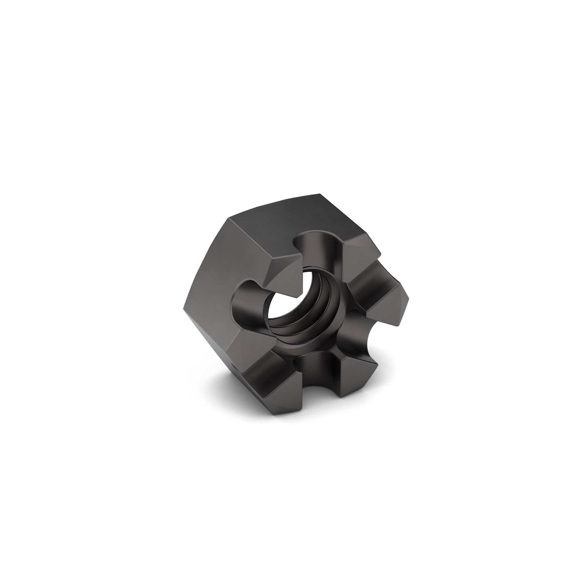 1/4-20 J995 GR 2 Slotted Hex Nut Zinc Clear Trivalent