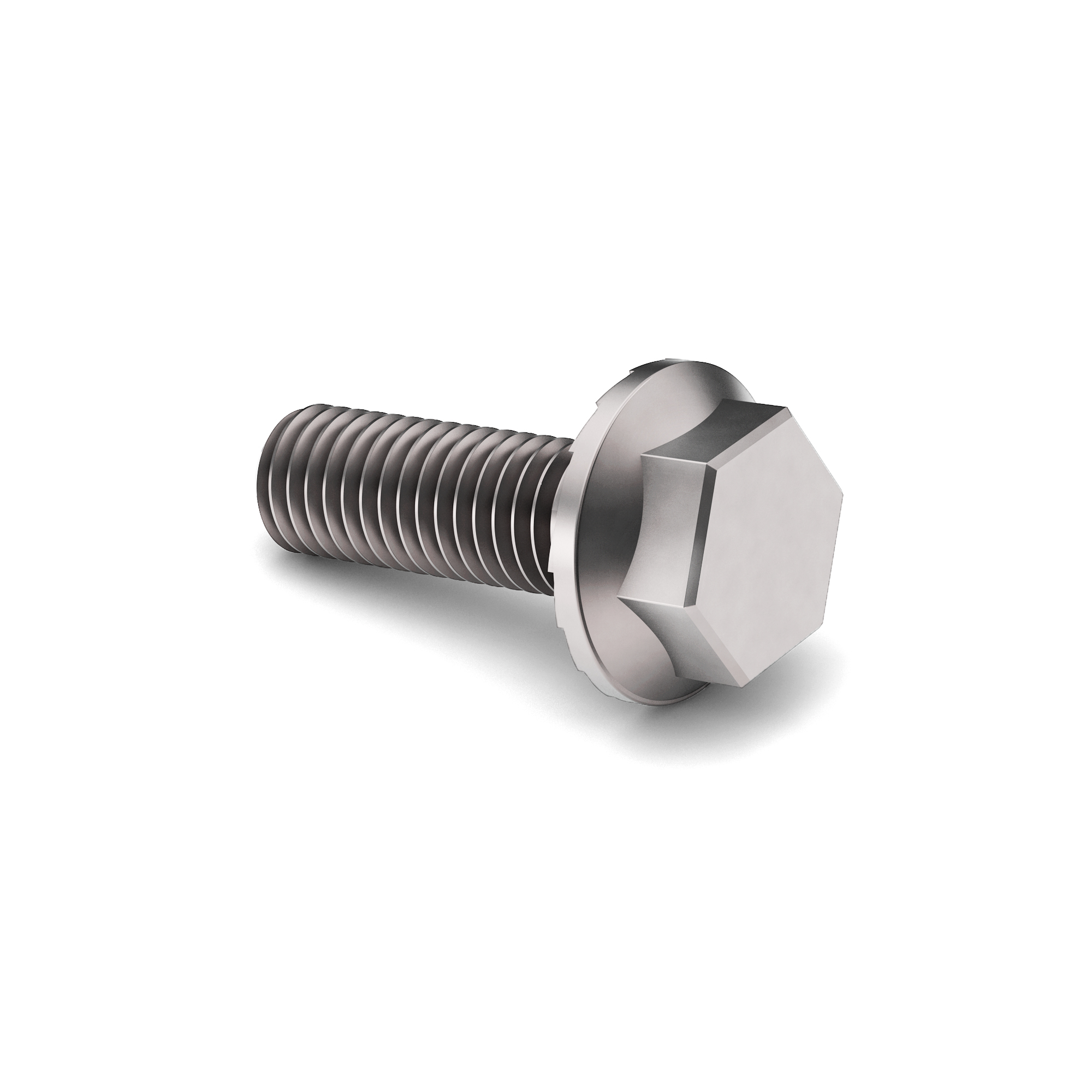 5/16-18x1 3/4 18/8 (A2) SS Hex Serrated Flange Locking Machine Screw Full Thrd Plain Finish