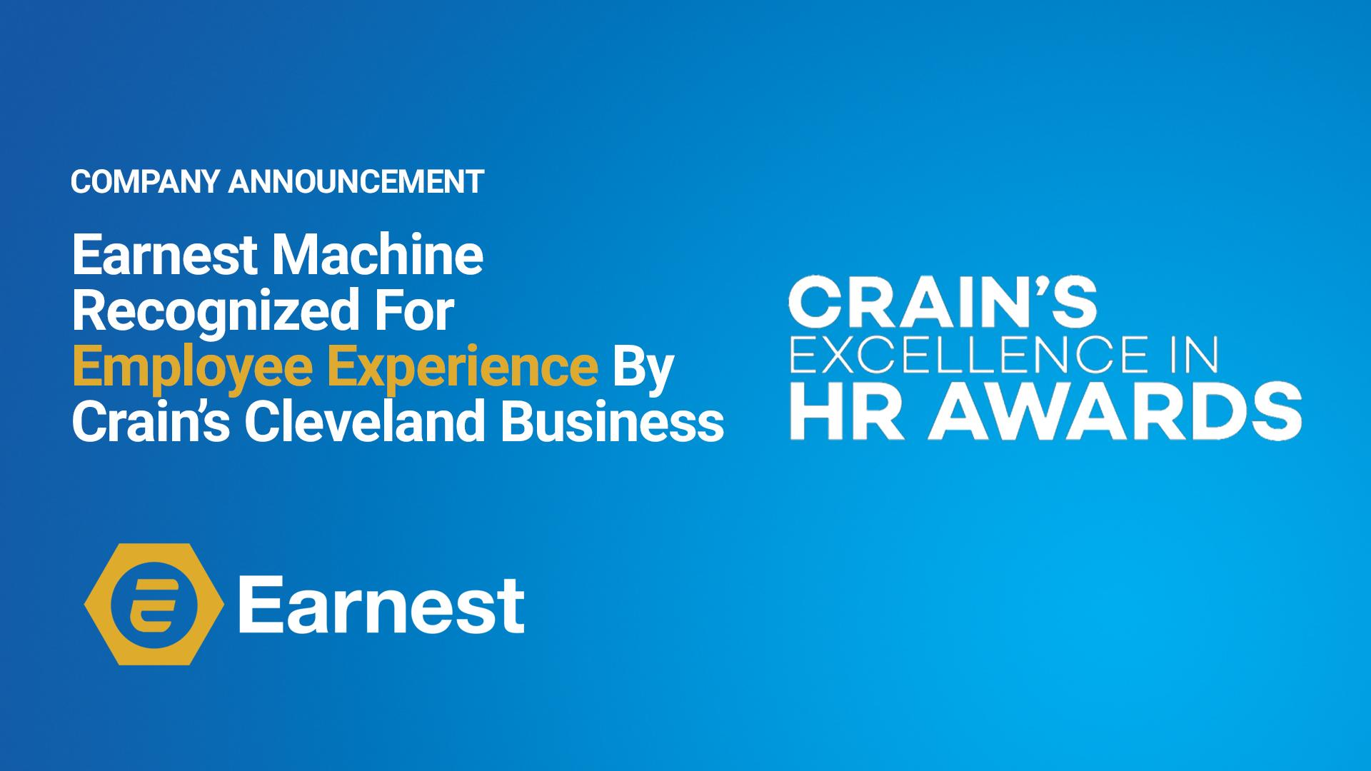 Earnest Machine Wins HR Award